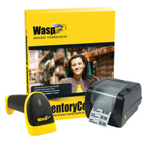 WASP, INVENTORY CONTROL STANDARD WITH WWS550I CORDLESS BARCODE SCANNER AND WPL305 BARCODE PRINTER