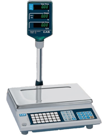 CAS CORP, AP1 DIGITAL PRICE COMPUTER SCALE, 15 LB WEIGHING CAPACITY, 0.005 LB RESOLUTION, NTEP APPROVED, VFD POLE DISPLAY