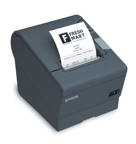 EPSON, TM-T88V, THERMAL RECEIPT PRINTER - ENERGY STAR RATED, EPSON DARK GRAY, USB & SERIAL INTERFACES, PS-180 POWER SUPPLY, REQUIRES A CABLE