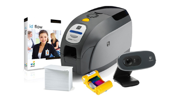 IN A BOX, ID BADGE PRINTING, LOW VOLUME, ZEBRA ZXP SERIES 3, LOGITECH WEBCAM, JOLLY ID FLOW SOFTARE