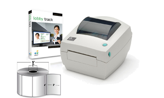 IN A BOX, VISITOR PASS SYSTEM, ZEBRA GC420D PRINTER, JOLLY LOBBY TRACK STANDARD SOFTWARE