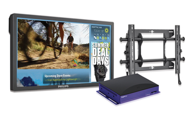 IN A BOX, RETAILER, GENERAL DIGITAL SIGNAGE, FEATURING PHILIPS 42