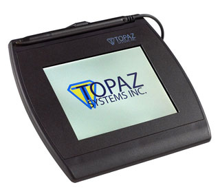 Topaz SignatureGem T-L462 Signature Capture Pad - Backlit LCD USB