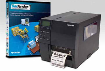 WAREHOUSE MANAGER IN A BOX, INCLUDES THERMAL TRANSFER PRINTER AND BARTENDER LABELING SOFTWARE