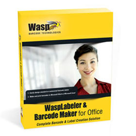 WASP, WASPLABELER & BARCODE MAKER FOR OFFICE (1 USER LICENSE)