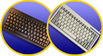 88/89 KEY BLACK MINI KYBD W/ USB I/F, WI